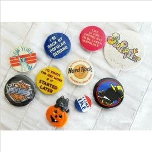 Vtg 1990s Buttons Dick Tracy New York Harley David
